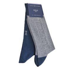 Tommy Hilfiger Značkové luxusní bavlněné pánské oblekové designové ponožky 492011 2-pack