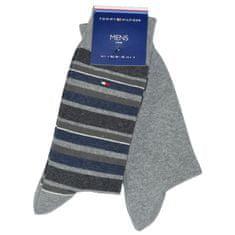 Tommy Hilfiger Značkové luxusní bavlněné pánské oblekové designové ponožky 342010 2-pack