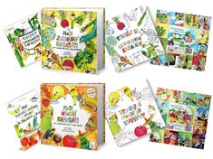 Čo Dokáže Mama Sada ovocných a zeleninových kníh, maľovaniek, skladačiek a ebookov Moji Kamaráti