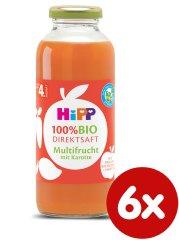HiPP 100 % BIO JUICE Ovocná šťáva s karotkou, 6 x 330 ml, od uk. 4.měsíce