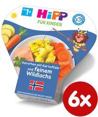 HiPP Brambory se zeleninou a jemným lososem - 6 x 250g