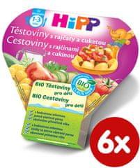 HiPP BIO Těstoviny s rajčaty a cuketou - 6x250g