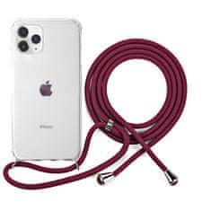 EPICO Nake String Case zaštitna maska za iPhone 11 Pro, bijela, prozirna/crvena