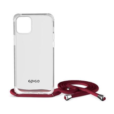 EPICO Nake String Case zaščitni ovitek za iPhone 12/12 Pro, bel, prozoren/rdeč