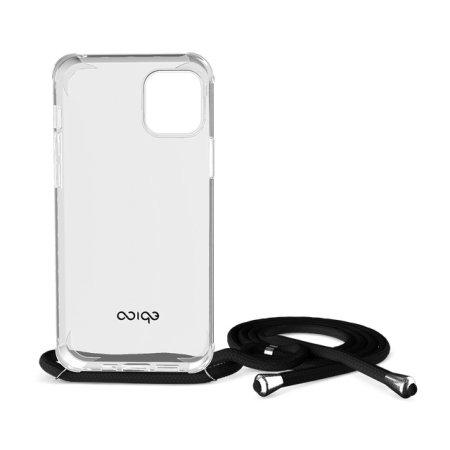 EPICO Nake String Case zaščitni ovitek za iPhone 12 Pro Max, bel, prozoren/črn