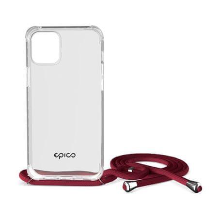 EPICO Nake String Case zaščitni ovitek za iPhone 12 Pro Max, bel, prozoren/rdeč