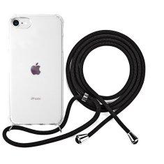 EPICO Nake String Case zaštitna maska za iPhone 7/8/SE, bijela, prozirna/crna
