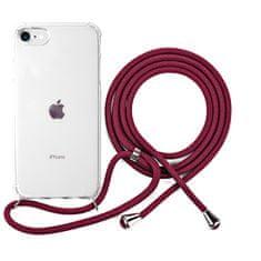 EPICO Nake String Case zaštitna maska za iPhone 7/8/SE, bijela, prozirna/crvena
