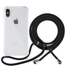 EPICO Nake String Case zaštitna maska za iPhone X/XS, bijela, prozirna/crna