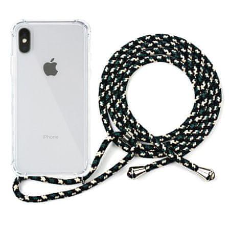 EPICO Nake String Case iPhone X/XS 24310101000022, fehér átlátszó / fekete - fehér