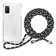 EPICO Nake String Case Samsung Galaxy A41 48210101000002, fehér átlátszó / fekete-fehér