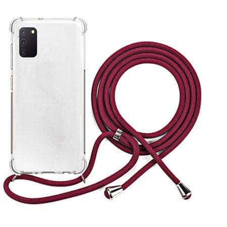 EPICO Nake String Case zaštitna maska za Galaxy A41, bijela, prozirna/crvena