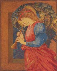 Metrax Craye Belgium Gobelín Tapisérie - Angel flageolet William Morris