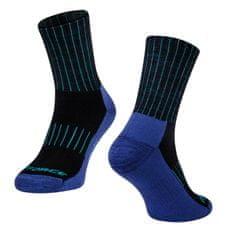 Force Zimní cyklistické ponožky ARCTIC s vlnou Merino - modré