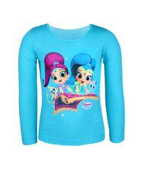 """SETINO Koszulka dziewczęca z długimi rękawami """"Shimmer i Shine"""" - niebieski"""
