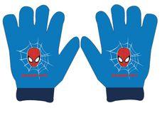"""Eplusm Chlapčenské prstové rukavice """"Spider-man"""" - modrá"""