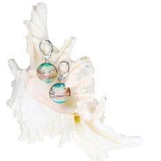 Lampglas Nežné náušnice Sweet Childhood z perál Lampglas s rýdzim striebrom EP22