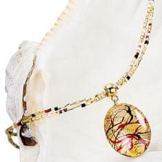 Lampglas Elegantný dámsky náhrdelník My Roots s perlou Lampglas s 24 karátovým zlatom NP15