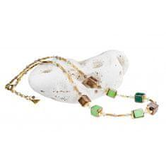 Lampglas Noblesné dámsky náhrdelník Emerald Shadow z perál Lampglas NCU5