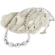 Lampglas Nežný náhrdelník White Romance ss rýdzim striebrom v perlách Lampglas NV1