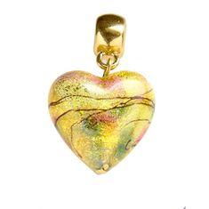 Lampglas Nežný prívesok Golden Dream s 24 karátovým zlatom v perle Lampglas S11