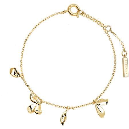 PDPAOLA Gyengéd, aranyozott karkötő medálokkal JASMINE Gold PU01-092-U