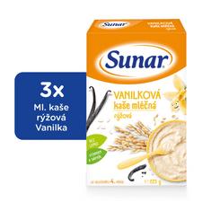 Sunar Vanilková kašička mliečna, 3x225g