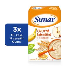 Sunar ovocná kaša mliečna (3x225g)