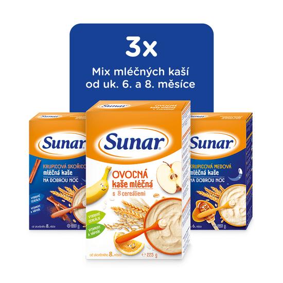 Sunar mix karton kašička mléčná (3x225g)