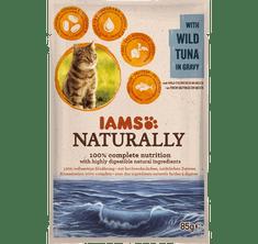IAMS Naturally hrana za odrasle mačke, z divjo tuno, v omaki, 24 x 85 g
