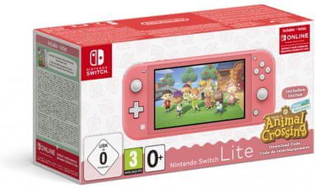 Nintendo konsola Switch Lite, różowa + Animal Crossing: New Horizons (NSH125)
