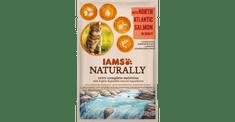 IAMS Naturally hrana za odrasle mačke, s severnoatlantskim lososom, v omaki, 24 x 85 g