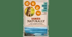 IAMS Naturally hrana za odrasle mačke, z oceansko polenovko, v omaki, 24 x 85 g
