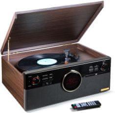 Technaxx gramofon TX-137, czarny/brązowy