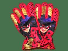 Nickelodeon Dívčí lyžařské červené zimní rukavice s kouzelnou beruškou.