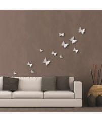 Crearreda Nástěnná 3D dekorace Crearreda SD White Butterflies 24001 Bílí motýli