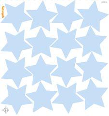 GEKONKY Hvězdy ledově modré