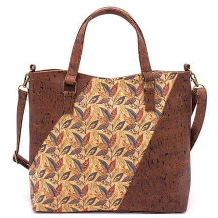 CORK Ženska torbica z elegantnimi vzorci - Brown