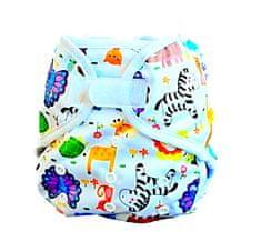 GaGa's pleny Svrchní kalhotky PUL 3,5- 10 kg Zoo na suchý zip