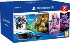 Sony PlayStation VR v2 + Kamera v2 + PS5 adaptér + 5 her (PS719809296)