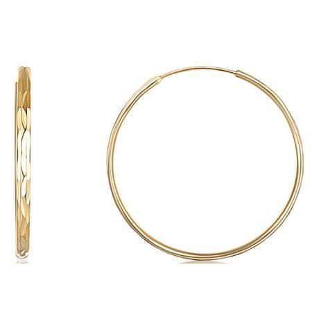 JVD Aranyozott ezüst karika fülbevaló SVLE0209XD5GO (Átmérő 5 cm)