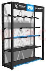 Oxford prezentační stěna na oblečení Premium Advanced pro zavěšení bund a kalhot, 2 moduly, OXFORD (ŠxVxHL = 1760x2300x585 mm) PC7000
