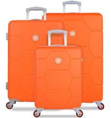 SuitSuit Sada cestovních kufrů SUITSUIT® TR-1249/3 ABS Caretta Vibrant Orange