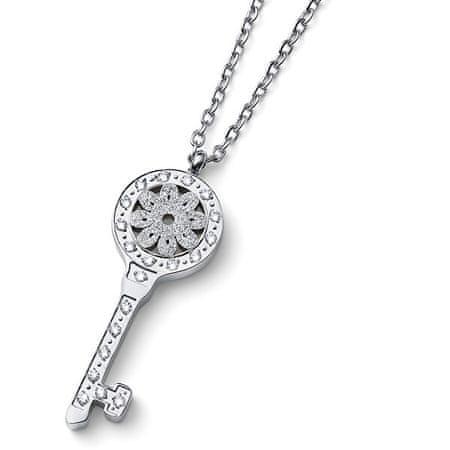 Oliver Weber Eredeti nyaklánc Kulcs színtiszta Swarovski kristállyal Unlock 12159