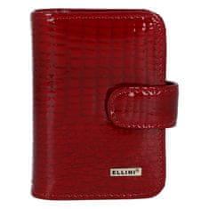 Ellini Dámská koženková peněženka Ellini Ella, croco červená