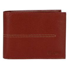 Ellini Elegantní pánská koženková peněženka Ellini Sasha, hnědá