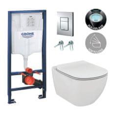 Ideal Standard G+IS 3 - set 5v1- Rapid SL pre WC + tlačidlo + úchyty + závesné WC Tesi s AQUABLADE + WC sedátko ultraploché Soft-Close