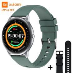 Xiaomi Imilab KW-66 pametni sat, 3D HD, Bluetooth 5, srebrna + dodatni crni remen