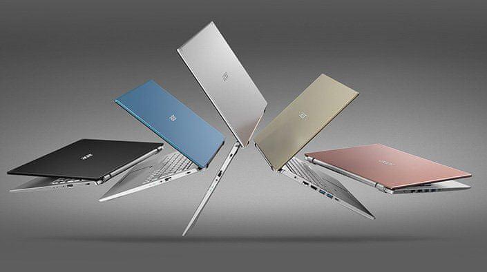 Acer Aspire 5 notebook keyboard podsvícení chiclet touchpad
