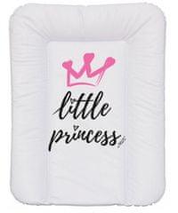 Nellys Přebalovací podložka, měkká, Little Princess, 70 x 50 cm, bílá